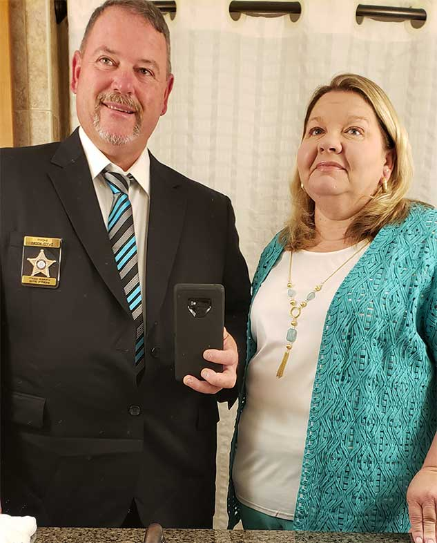 Sheriff Moore and his wife